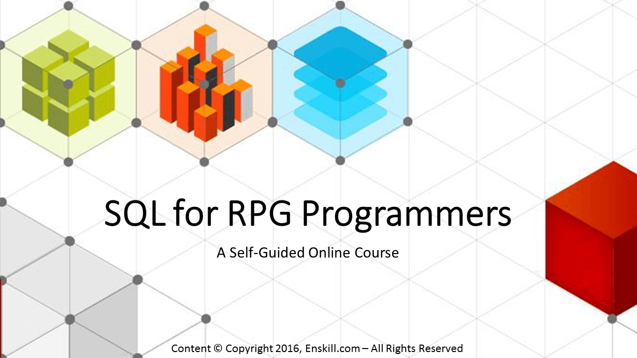 SQL for RPG Programmers